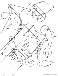 emejing kite coloring gallery new printable coloring pages