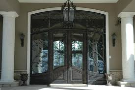 metal front doors with glass double glass front doors and craving black metal with black wooden