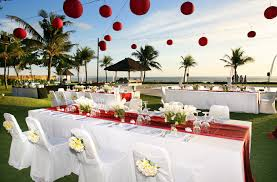 wedding setup table set up bali wedding flowers