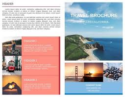travel and tourism brochure templates free travel brochure template theveliger