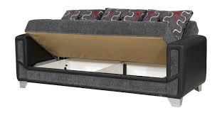 mondo sofa mondo modern grey convertible sofa bed by casamode