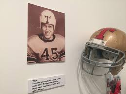 fil a fan experience tulsa football helmet is part of college football hall of fame and