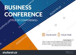 business conference invitation concept colorful simple stock