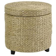 Soft Ottoman Cube Storage White Wicker Footstool Soft Ottoman With Storage