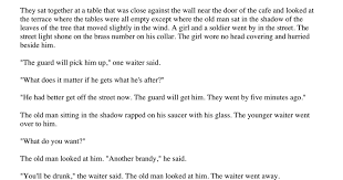 A Clean Well Lighted Place Analysis A Clean Well Lighted Place Hemingway Pdf Google Drive