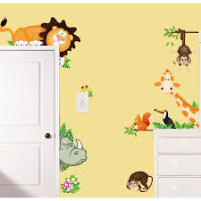 giraffe lion vinyl wall stickers removable decal kid home decor