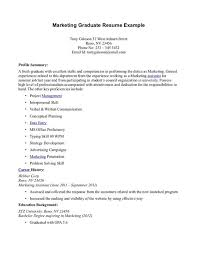 Summer Job Resume Examples by Resume Sample For Psychology Graduate Resume Sample For