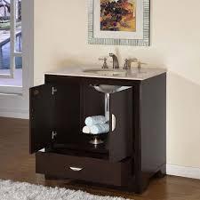 off center sink bathroom vanity 36 perfecta pa 219 single sink cabinet bathroom vanity hyp stylish