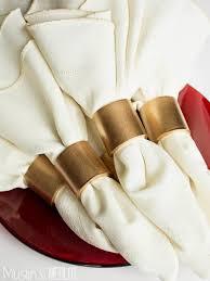 best 25 gold napkin rings ideas on napkin dinner