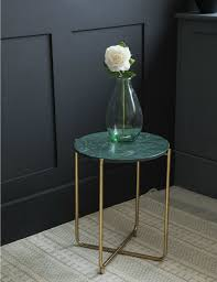 green marble side table at u0026