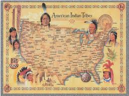 Map Of The North America by North American Indians