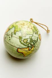 green globe ornament earthbound trading co earthbound trading co