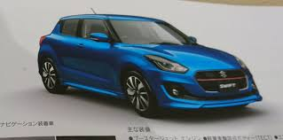 opel japan suzuki swift design and details revealed via leaked japanese brochure