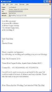 official wedding invitation mail format wedding invitation sample