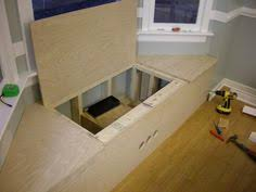bay window bench idea make it hollow with a lift up bench seat