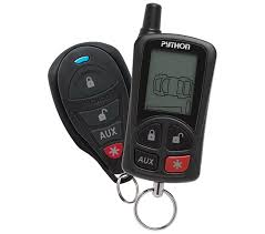python lcd 2 way security and remote start system