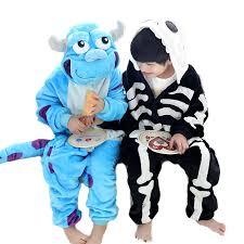 Toddler Sully Halloween Costume Novelty Animal Monster University Sulley Sully Onesie Skeleton