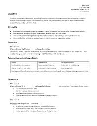 What Is A Objective On A Resume Resume For Automotive Technician Free Resume Example And Writing