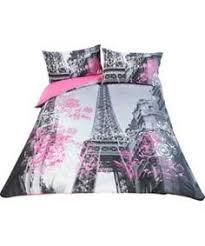 Purple Paris Themed Bedroom by Stunning Paris Eiffel Tower Black Flocking Queen Size Quilt Doona