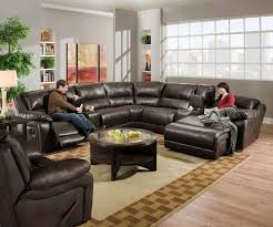 Black Leather Sectional Sofa Recliner Modern Black Leather Sectional Sofa With Chaise And Coffee