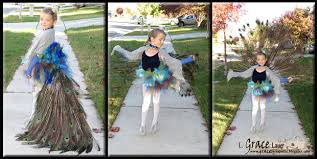 Peacock Halloween Costume Girls Peacock Princess Costume Fully Articulated Tail 13 Steps