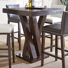 elegant pub height table and chairs chocolat 5 pc counter height