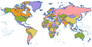 map of us without names map with countries no names maps of usa