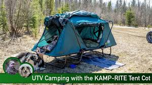 jeep hammock camping utv camping with the kamp rite tent cot youtube