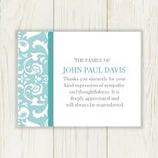 sympathy thank you cards damask funeral thank you card digital file choose your