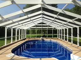 Home Designer Pro Gable Roof by White Frame Gable Roof Swimming Pool Enclosure Built By Aluminum