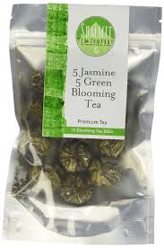 amazon com 10 blooming flower tea 5 jasmine and 5 green