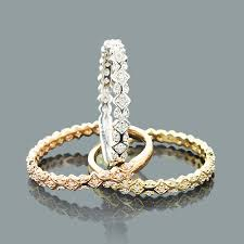 stackable diamond rings trio stackable diamond ring set 0 34ct 14k gold