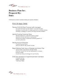Microsoft Business Plan Templates 30 60 90 Day Sales Plan Template Best Business Template