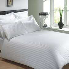 white cotton flat bed sheets with satin stripe cotton bed cover