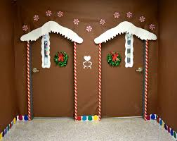 Pinterest Holiday Decorations Backyards Twin Ginger Bread House Christmas Door Diy Holiday
