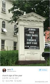 10 genius church signs that will make you laugh and think bored