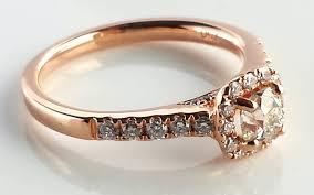 ethical engagement rings 0 82tcw pavé set mine cut diamond 18k gold halo