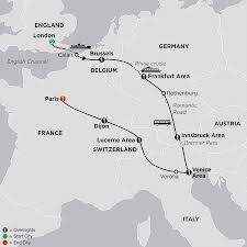 Calais France Map by Multi Country European Vacation Package Cosmos Tours