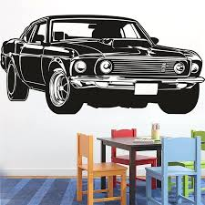 wall decor classic shelby gt ford mustang muscle racing car wall