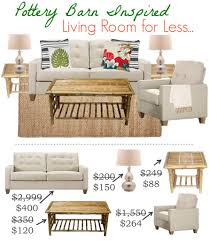 Pottery Barn Living Rooms by Pottery Barn Inspired Living Room For Less Saving Dollars U0026 Sense