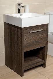 Bathroom Vanity Unit Moscow 500 Floor Standing Bathroom Vanity Unit Dark Wood Standing