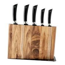kitchen knives sabatier sabatier acacia 5pc knife block dunelm