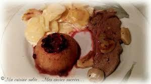 chevreuil cuisine gigue de chevreuil au four cuisse pommes aux airelles gratin