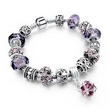 sterling silver bracelet beads charms images 925 sterling silver charm bracelet with murano glass beads blown jpg