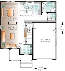 Open Modern Floor Plans Mesmerizing Open Concept Floor Plan 14 In Modern House With Open
