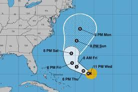 Where Is Cuba On A Map Hurricane Jose Path Map Where Is Hurricane Jose Heading Next