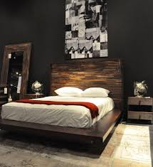 reclaimed wood platform bed bedroom transitional with aged wood
