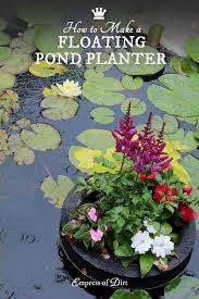 How To Make Planters by How To Make A Floating Pond Planter Empress Of Dirt