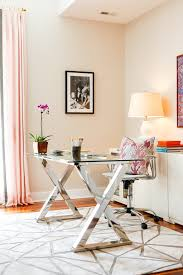 modern desk chairs with mirrored desk home office eclectic and