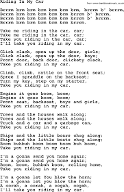 woody guthrie song riding in my car lyrics